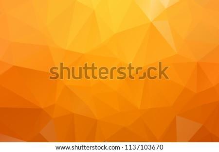 Orange Polygonal Mosaic Background. geometric pattern, triangles background. Creative Business Design Templates. Vector illustration.