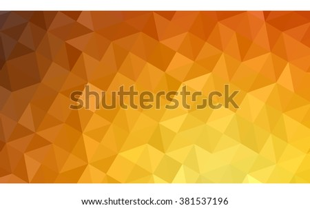 orange polygonal pattern  which