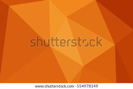 Orange Polygonal Pattern Which Consist Of Triangles Geometric Background In Origami Style With Gradient