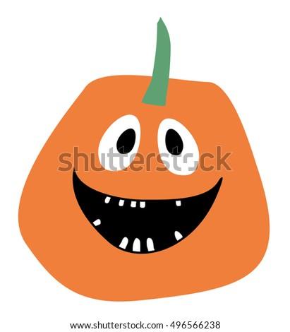 orange pumpkin vector halloween