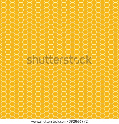 orange seamless honey combs pattern vector illustration