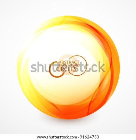 Orange shiny sphere