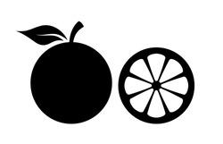Orange silhouette vector icon illustration isolated on white background