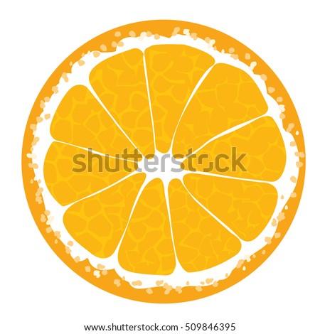 Orange slice . Orange icon. Orange illustration. Orange Orange Orange Orange Orange Orange Orange Orange Orange Vector illustration for decorative poster, emblem natural product, farmers market.