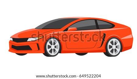 orange sports car luxury model