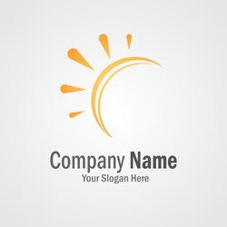 Orange sun logo for your company / business