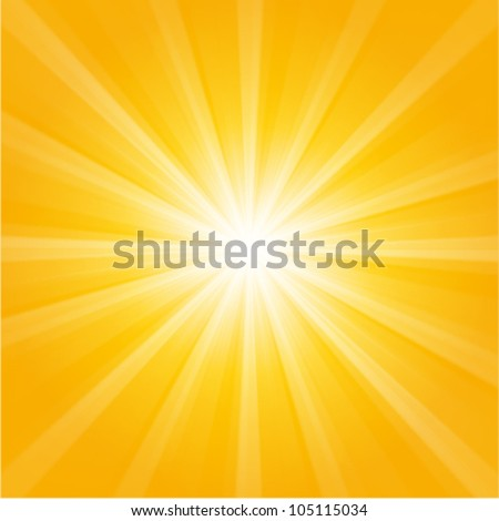 orange sunburst summer holiday background
