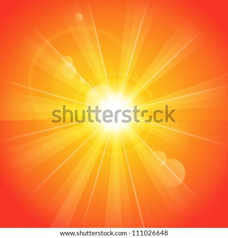 orange sunny background