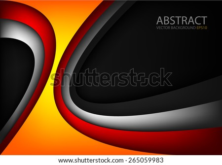 orange vector background curve
