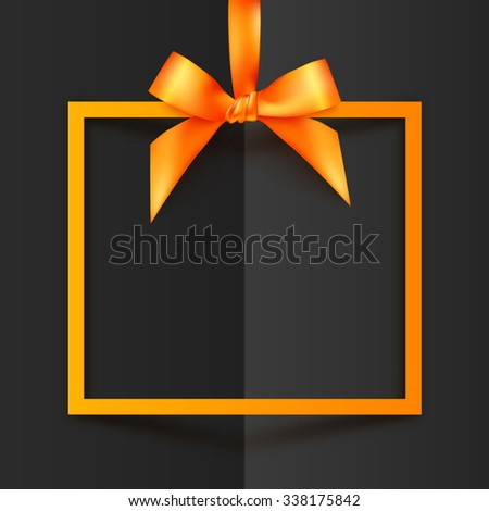 orange vector gift box frame