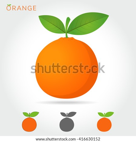 orange vector icon cartoon