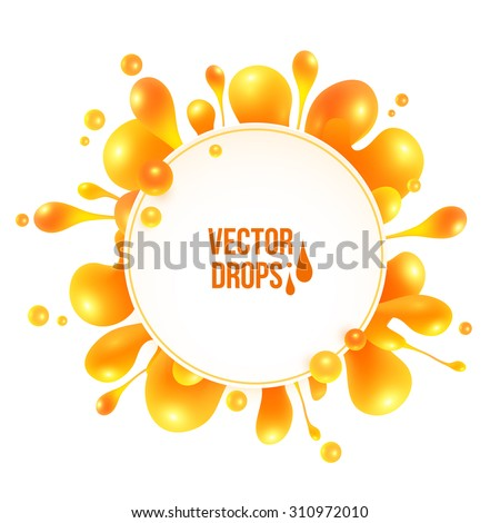 orange vector liquid splash