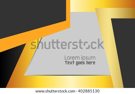 Orange vector Template Abstract background with curves lines and shadow. For flyer, brochure, booklet and websites design  #402885130