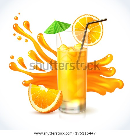 orange vitamin juice in glass