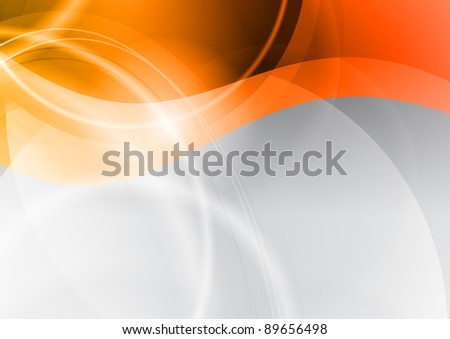 orange wave on the abstract background