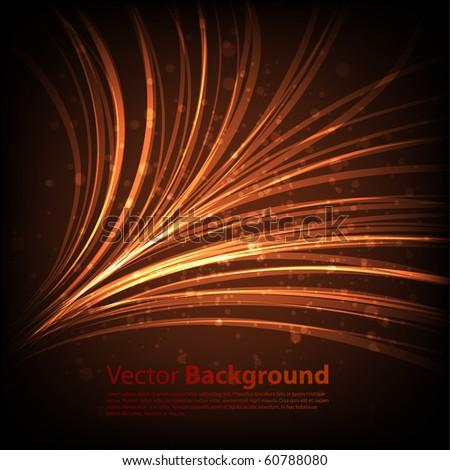 Orange waveform vector background