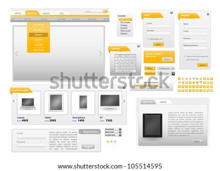Orange Web Design Frame Vector for site. for sale