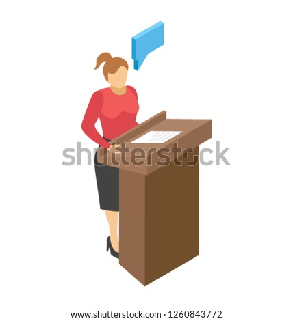 Orator flat icon design