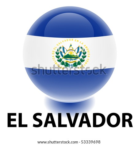 Orb El Salvador Flag - stock vector