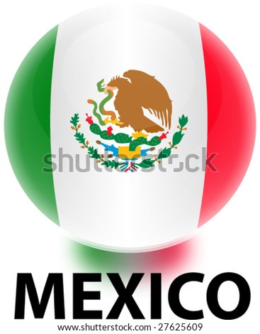 mexico flag. stock vector : Orb Mexico Flag