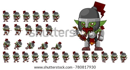orc archer game character for