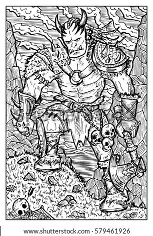 orc  troll or goblin fantasy