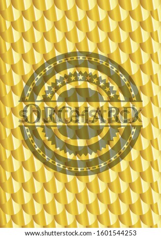 orchard gold shiny emblem