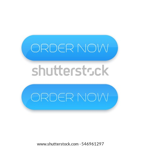 order now, button for web, blue on white