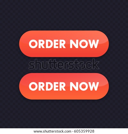 order now orange button for web design