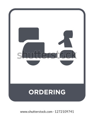 ordering icon vector on white background, ordering trendy filled icons from Fastfood collection, ordering simple element illustration