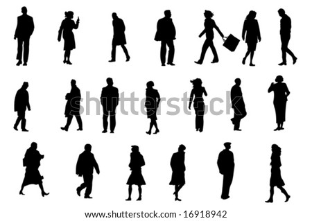 ordinary people silhouettes