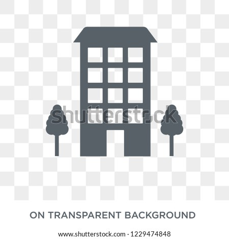 Ordinary residence icon. Trendy flat vector Ordinary residence icon on transparent background from business   collection.