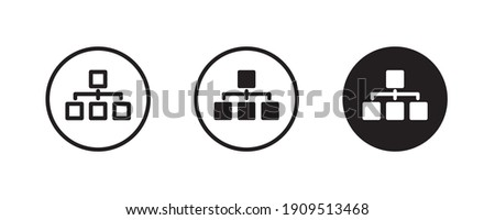 Org Hierarchy,  organization chart icon, Project team. Project management, Team structure, Corporate hierarchy, sitemap Data visualization icons button, vector, sign, symbol, logo, illustration Stock photo ©