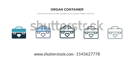 organ container icon in different style vector illustration. two colored and black organ container vector icons designed in filled, outline, line and stroke style can be used for web, mobile, ui