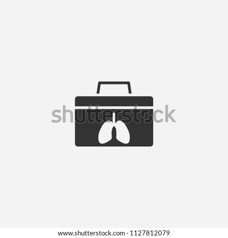 Organ donation icon illustration,vector medicine sign symbol