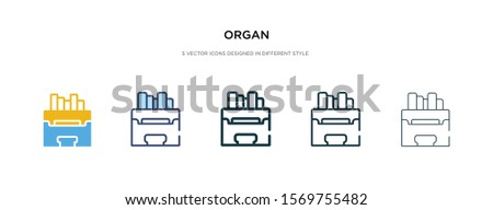 organ icon in different style vector illustration. two colored and black organ vector icons designed in filled, outline, line and stroke style can be used for web, mobile, ui