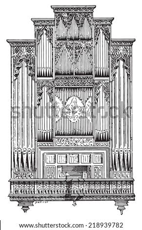 organ of perpignan cathedral