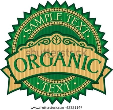 organic badge - label (stamp)