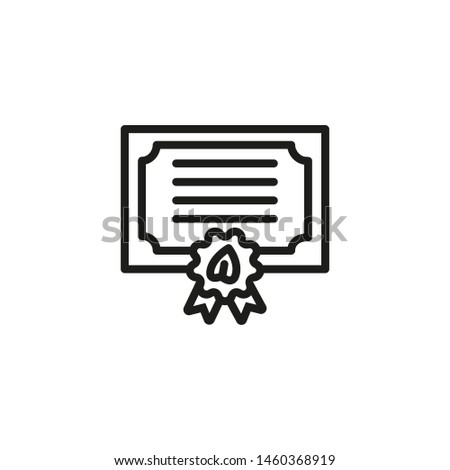 Organic certificate line icon. Document, approval, natural. Organics concept. Vector illustration can be used for topics like environment, ecology, food