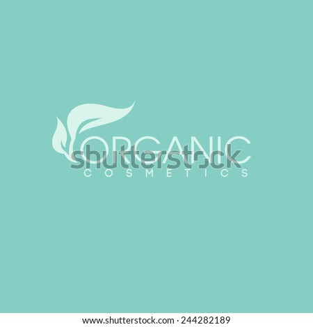 organic cosmetics logo design