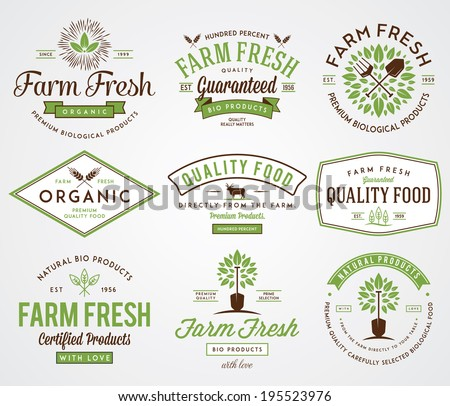 Organic farm fresh badges 2