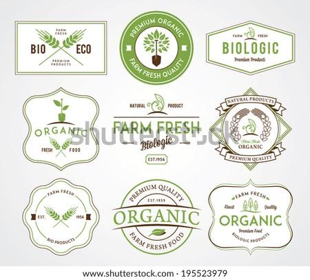 Organic farm fresh badges
