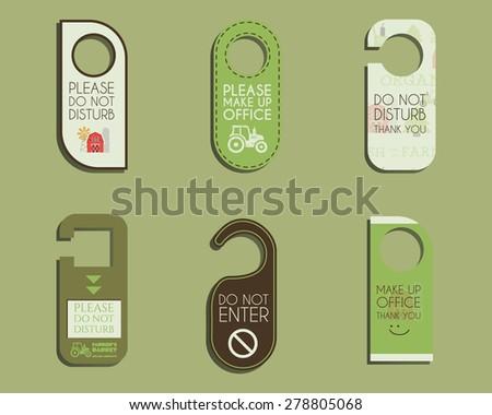free do not disturb door hanger vector set download free vector