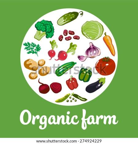 Organic Farm Vector Concept