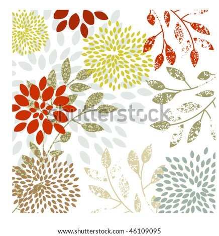 Organic flowers background