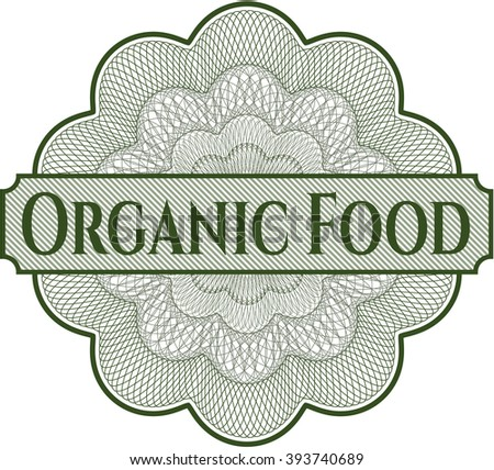 Organic Food abstract rosette