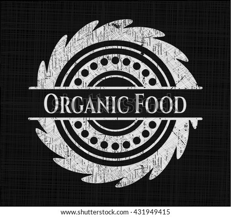 Organic Food chalk emblem