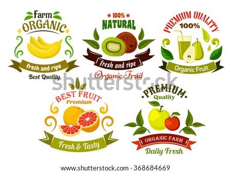 organic food emblems of healthy