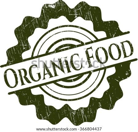 Organic Food grunge seal