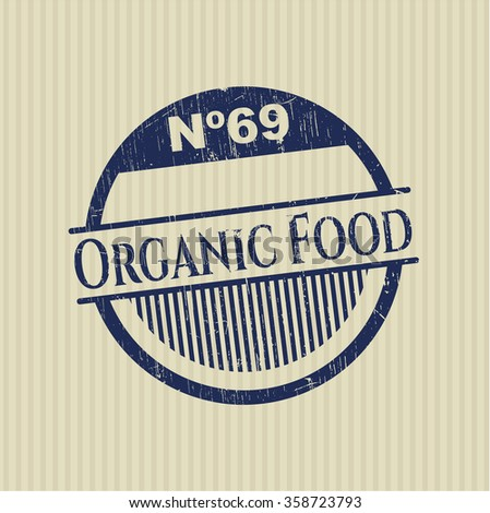 Organic Food grunge stamp